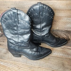 Harley Davidson Black Leather heeled boots
